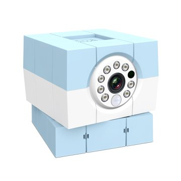 Amaryllo 愛瑪麗歐 iBabi HD 360°無線網路攝影機 粉藍色
