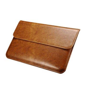 ICARER 艾克磁性吸合 MacBook Air 11吋 手工真皮皮套 - 淺棕