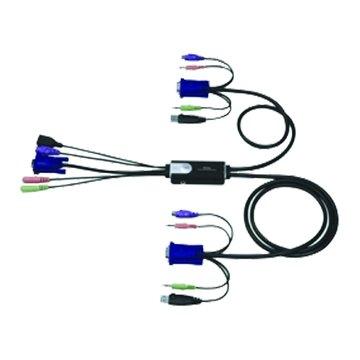ATEN 宏正 CS52A 2埠音源Hybrid KVM USB*1/PS2*1