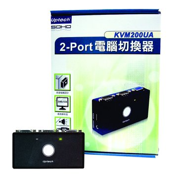 Uptech 200UA 2埠 USB KVM SWITCH