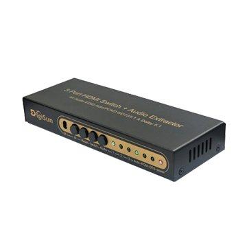 DigiSun 得揚AH231 4K2K HDMI三進一出切換器+音訊擷取器
