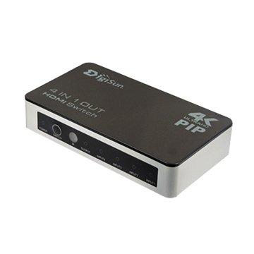 DigiSun 得揚VH741P 4K2K HDMI四進一出切換器(PIP子母畫面)