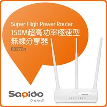 Sapido BR270N 4埠無線分享器300M