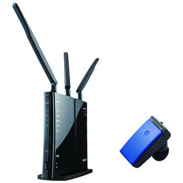Buffalo 巴比祿 WZR-HP-G450H+無線藍芽耳機