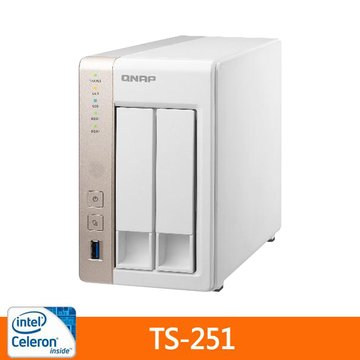 QNAP 威聯通 TS-251 2Bay網路儲存伺服器