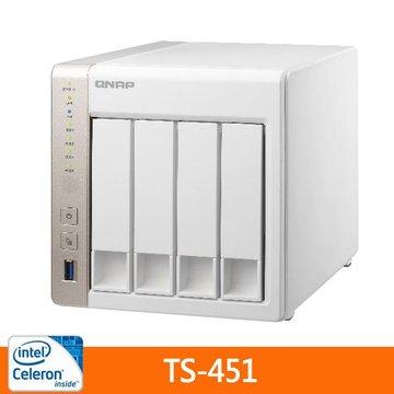 QNAP 威聯通 TS-451 4Bay網路儲存伺服器