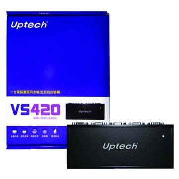 Uptech VS420 4埠螢幕分配器(高頻版)