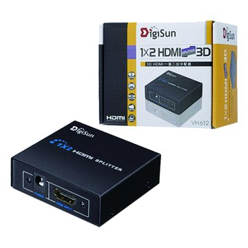 DigiSun 得揚VH612 3D HDMI一進二出影音分配器