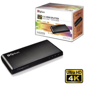 DigiSun 得揚VH714 4K2K HDMI 1進4出影音分配器