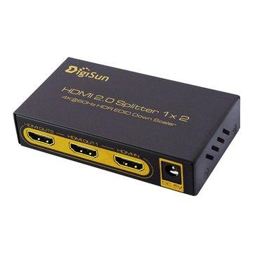 DigiSun 得揚 UH812 4K HDMI 2.0 一進二出影音分配器