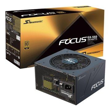 Seasonic 海韻Focus GX-550金牌全模組電源供應器10Y