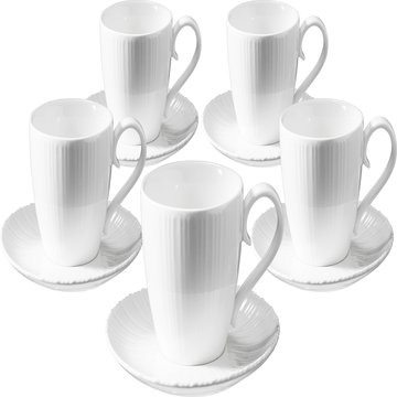 TIAMO白瓷咖啡杯組SP-1611