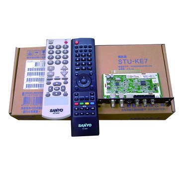 SANLUX 台灣三洋 STU-KE7三合一視訊盒(NTSC/DVB-T/HiHD)
