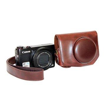 Canon 佳能G7X副廠復古皮革相機包(不限色)