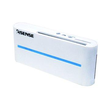 E-SENES 逸盛 雙SD/Micro/CF/MS USB 3.0讀卡機(白)
