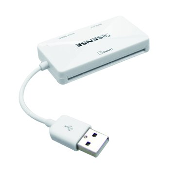 E-SENES 逸盛OS3 ATM+SD+MicroSD+OTG轉接讀卡機(白