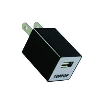 TOPP OP TOPPOP 方塊USB 電源轉換器-黑