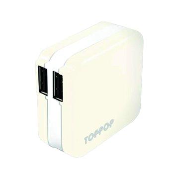 TOPP OP TOPPOP 馬卡龍 2/2.1A 家用充電器-白