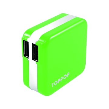 TOPP OP TOPPOP 馬卡龍 2/2.1A 家用充電器-綠