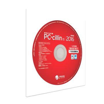 TREND 趨勢 PC-cillin10 2016 1年1機隨機版(Sleeve CD)