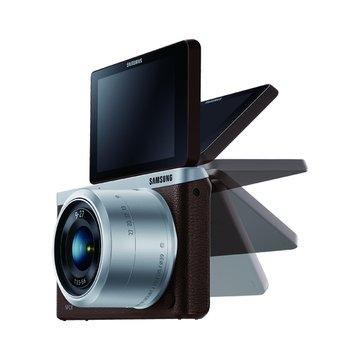 SAMSUNG 三星 NX Mini 變焦組(9-27mm)咖啡 輕單眼(福利品出清)