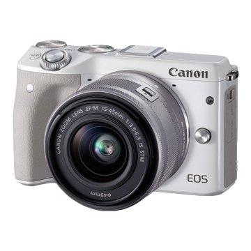 Canon 佳能EOS M3 KIT EFM15-45白 輕單眼相機(福利品出清)