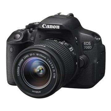 Canon 佳能 700D黑 雙鏡STM(18-55+55-250) 單眼相機(福利品出清)