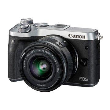 Canon 佳能EOS M6+EFM15-45/ 銀 輕單眼相機