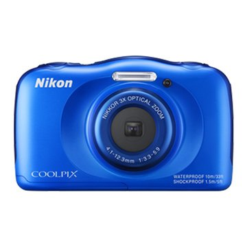 NIKON 尼康 S33藍2.71320 萬畫素 防水相機(福利品出清)