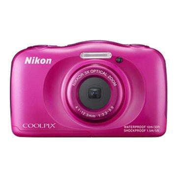 NIKON 尼康 S33粉紅 2.71320 萬畫素 防水相機(福利品出清)