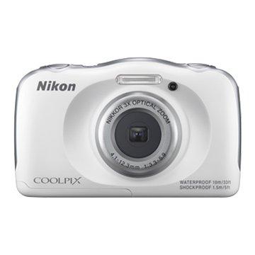 NIKON 尼康 S33白2.71320 萬畫素 防水相機(福利品出清)