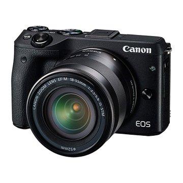 Canon 佳能EOS M3 KIT(EFM18-55)黑 輕單眼相機(福利品出清)