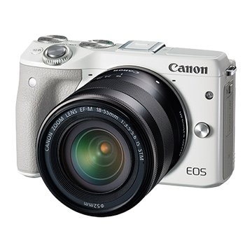 Canon 佳能EOS M3 雙鏡(EFM18-55+EFM55-200)白 輕單眼(福利品出清)