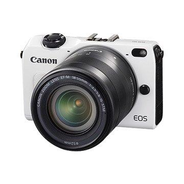 Canon 佳能 EOS M2(雙鏡+90EX閃燈)白 輕單眼相機(福利品出清)