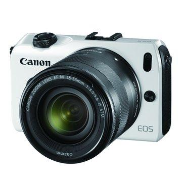 Canon 佳能 EOS M(雙鏡+90EX閃燈)白 輕單眼相機(福利品出清)