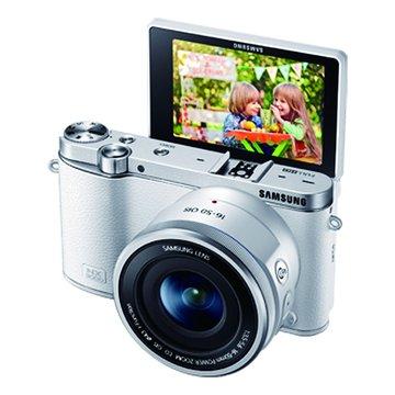 SAMSUNG 三星 NX3000白 單鏡(16-50mm PZ+Flash)單眼(福利品出清)