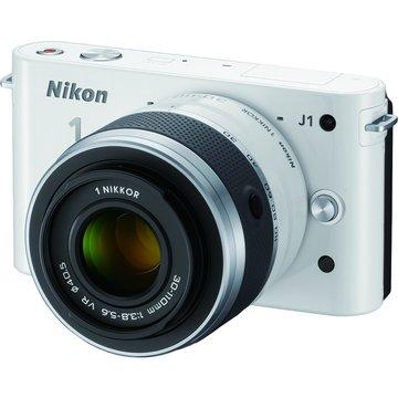 NIKON 尼康J1(10-30+30-110mm)銀 單眼相機(福利品出清)