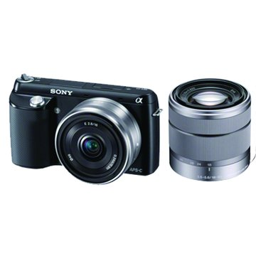 SONY 新力牌 NEX-F3D/BQ黑 雙鏡組(18-55) 單眼相機(福利品出清)