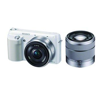 SONY 新力牌 NEX-F3D/WQ白 雙鏡組 單眼相機(福利品出清)