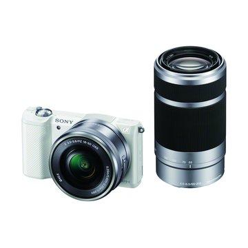 SONY 新力牌ILCE-5000Y (16-50+55-210/W白 輕單眼