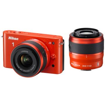 NIKON 尼康J2(10-30+30-110)橘 單眼相機(福利品出清)