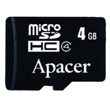 Apacer 宇瞻 Micro 4G CL4附轉卡記憶卡