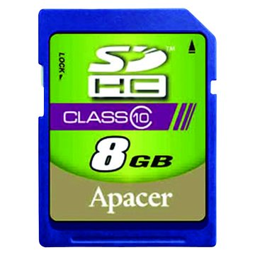 Apacer 宇瞻 SDHC 8G CL10記憶卡