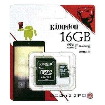 Kingston 金士頓Micro 16G U1 C10附轉卡(讀80MB/s