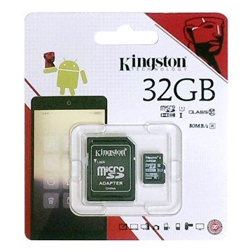 Kingston 金士頓Micro 32G U1 C10附轉卡(讀80MB/s
