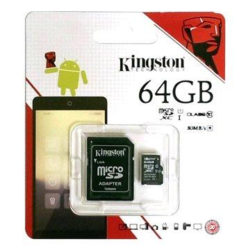 Kingston 金士頓Micro 64G U1 C10附轉卡(讀80MB/s