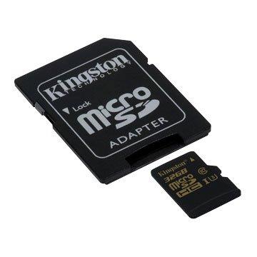 Kingston 金士頓 Micro 32G U3 金卡附轉卡(讀80MB/s