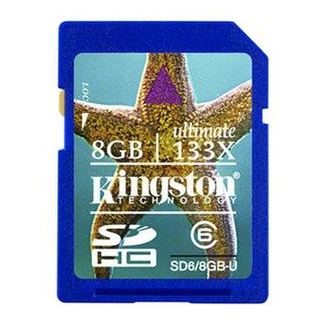 Kingston 金士頓 SDHC 8G CL6記憶卡