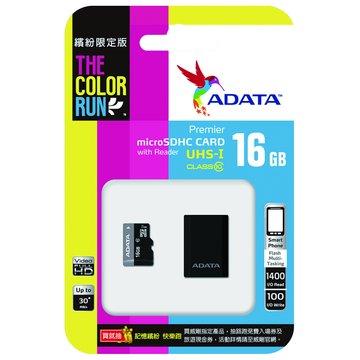 ADATA 威剛 Micro 16G UHS-I記憶卡+讀卡機限定版