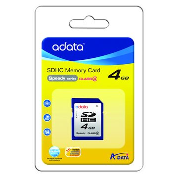 ADATA 威剛 SDHC 4G CL4記憶卡
